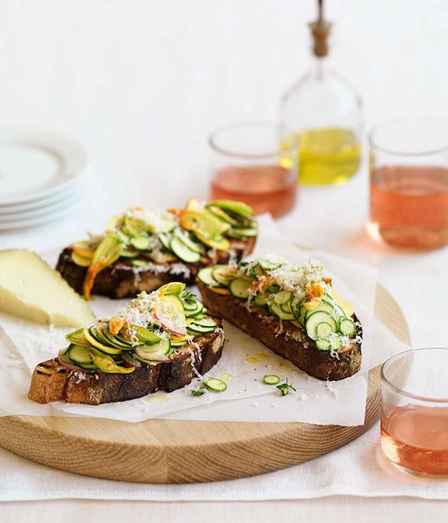 "[**Zucchini pa amb tomàquet**](https://www.gourmettraveller.com.au/recipes/fast-recipes/zucchini-pa-amb-tomaquet-13334|target=""_blank"") <br><br>"