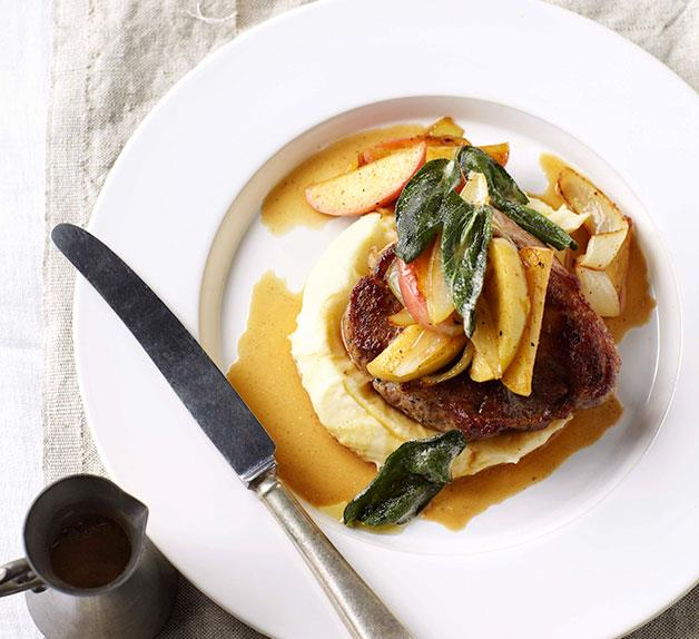 Pork with cider and apples