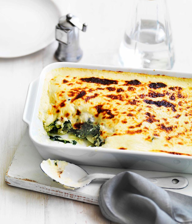 **Wilted greens and potato with cheese sauce** **Wilted greens and potato with cheese sauce**    [View Recipe](http://www.gourmettraveller.com.au/wilted-greens-and-potato-with-cheese-sauce.htm)     PHOTOGRAPH **WILLIAM MEPPEM**