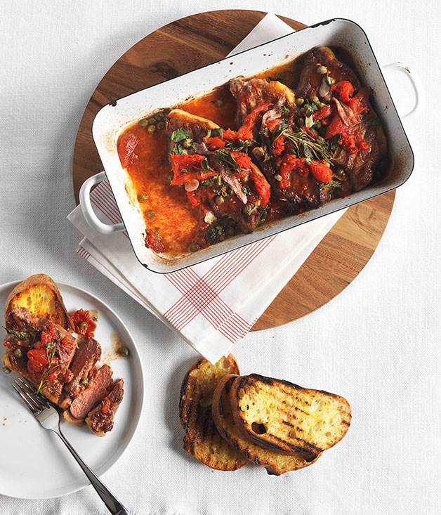 **Bistecca pizzaiola** **Bistecca pizzaiola**    [View Recipe](http://gourmettraveller.com.au/bistecca-pizzaiola.htm)     PHOTOGRAPH **JASON LOUCAS**