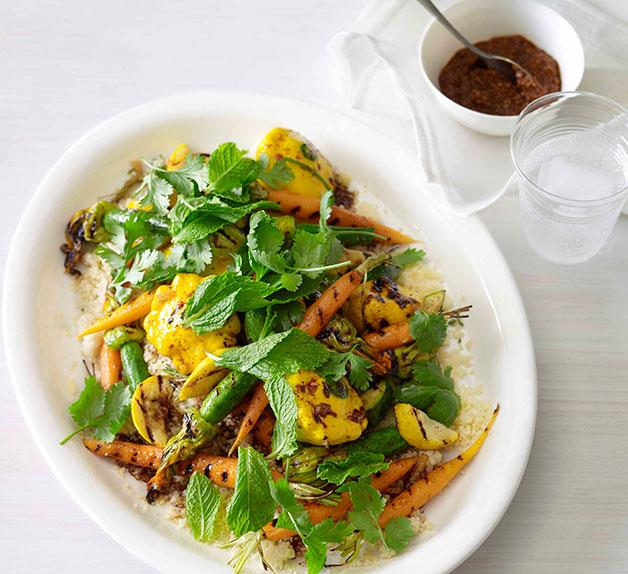 Couscous with summer vegetables