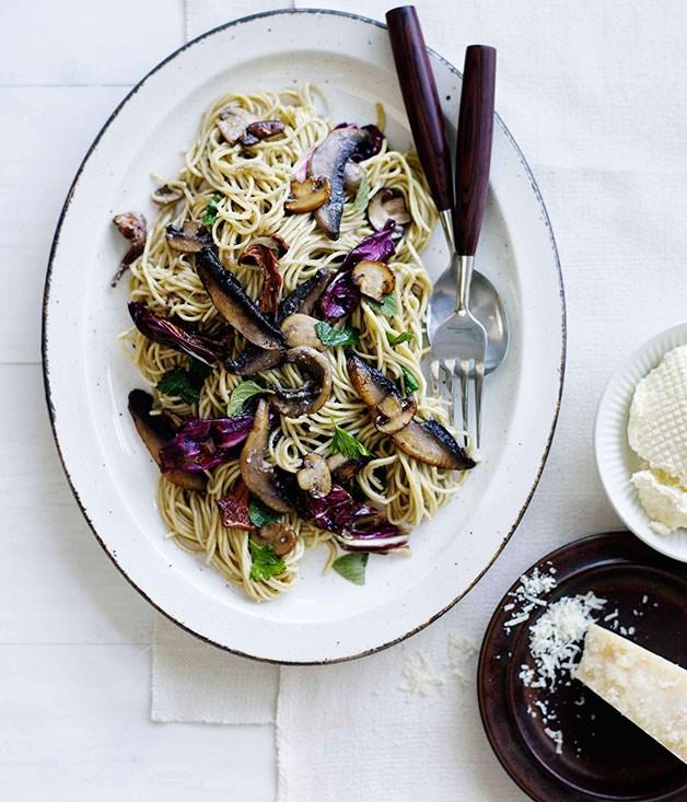 **Mushroom, radicchio and ricotta tagliarini** **Mushroom, radicchio and ricotta tagliarini**    [View Recipe](http://gourmettraveller.com.au/mushroom-radicchio-and-ricotta-tagliarini.htm)     PHOTOGRAPH **BEN DEARNLEY**