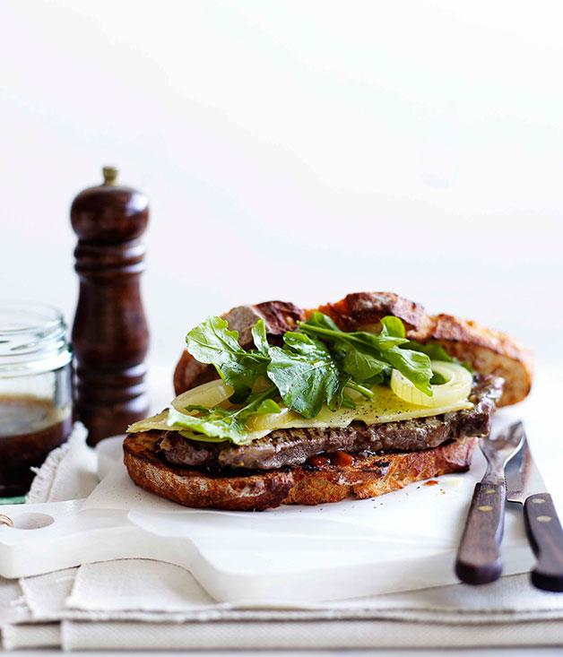 "[**Steak sandwich**](https://www.gourmettraveller.com.au/recipes/fast-recipes/ploughmans-steak-sandwich-13095|target=""_blank"")"