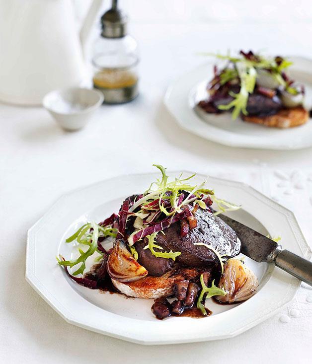 **Duck livers on toast** **Duck livers on toast**    [View Recipe](http://www.gourmettraveller.com.au/duck-livers-on-toast.htm)     PHOTOGRAPH **BEN DEARNLEY**