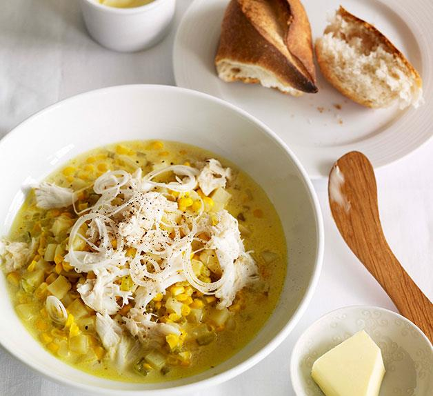 End-of-spring corn and crab chowder