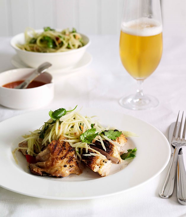 Grilled chicken and green papaya salad