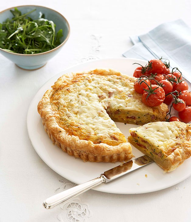 Ham and leek quiche