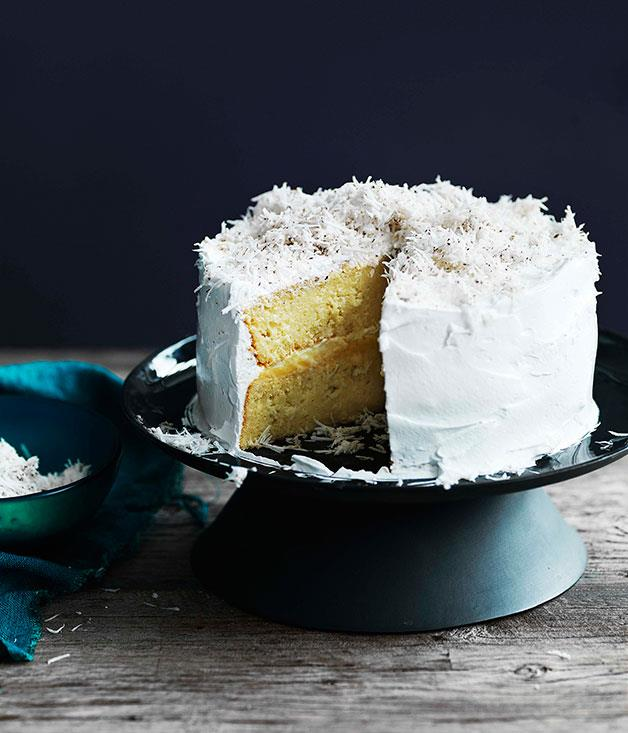 """[**Coconut cake with lime curd**](http://gourmettraveller.com.au/coconut-cake-with-lime-curd.htm
