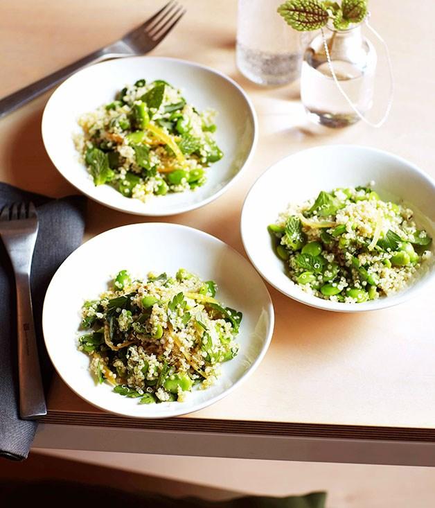 **Quinoa, broad bean and preserved lemon salad** **Quinoa, broad bean and preserved lemon salad**    [View Recipe](http://gourmettraveller.com.au/quinoa-broad-bean-and-preserved-lemon-salad.htm)     PHOTOGRAPH **VANESSA LEVIS**