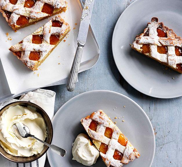 Marmalade and almond tart