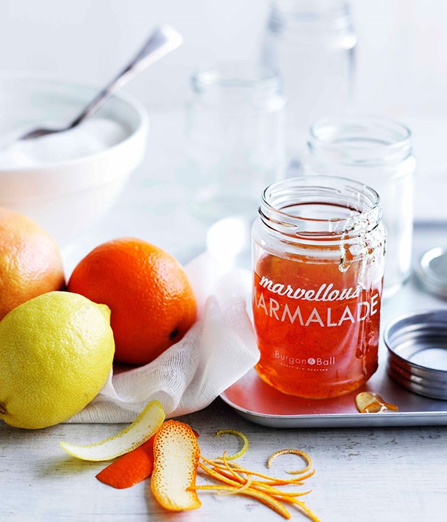 **Orange and ruby grapefruit marmalade** **Orange and ruby grapefruit marmalade**    [View Recipe](http://gourmettraveller.com.au/orange-and-ruby-grapefruit-marmalade.htm)     PHOTOGRAPH **BEN DEARNLEY**