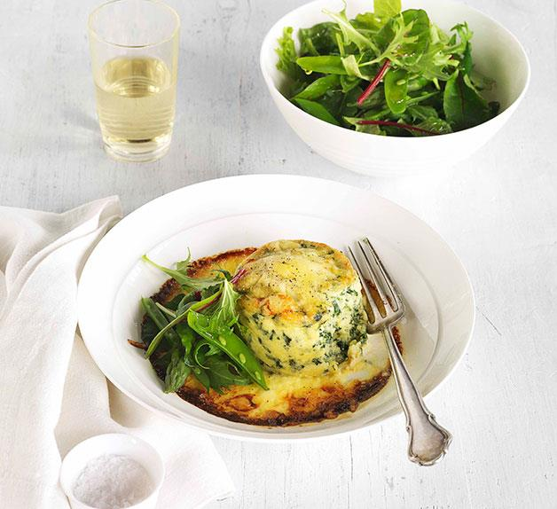 Double-baked spinach and ricotta soufflé
