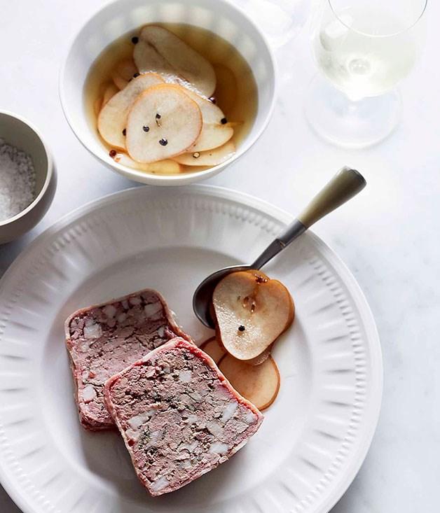 Pork and chicken liver terrine