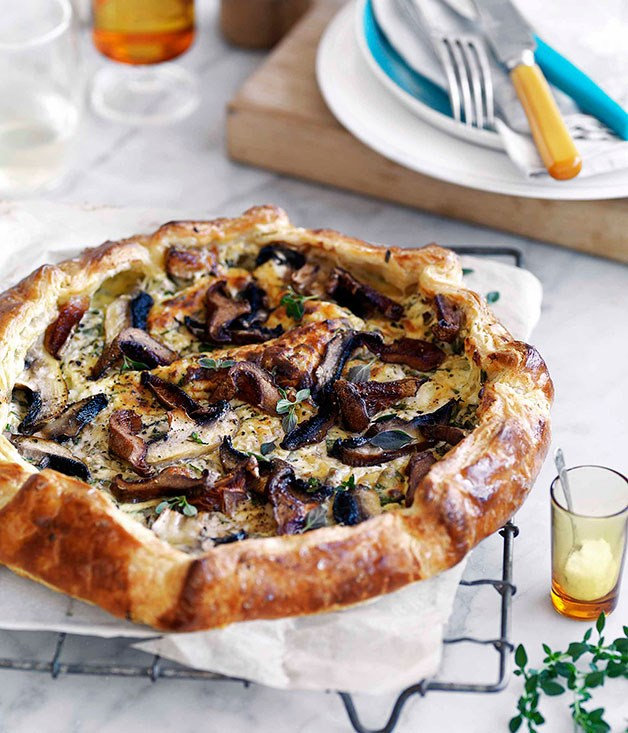 **Mushroom and ricotta galette** **Mushroom and ricotta galette**    [View Recipe](http://gourmettraveller.com.au/mushroom-and-ricotta-galette.htm)     PHOTOGRAPH **WILLIAM MEPPEM**