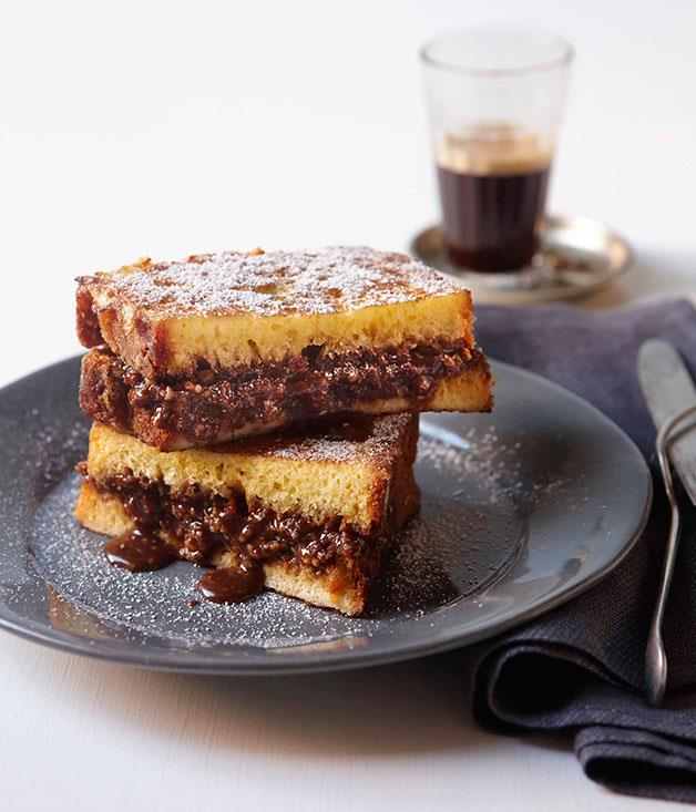 "[Chocolate French toast](http://www.gourmettraveller.com.au/chocolate-french-toast.htm|target=""_blank"")"