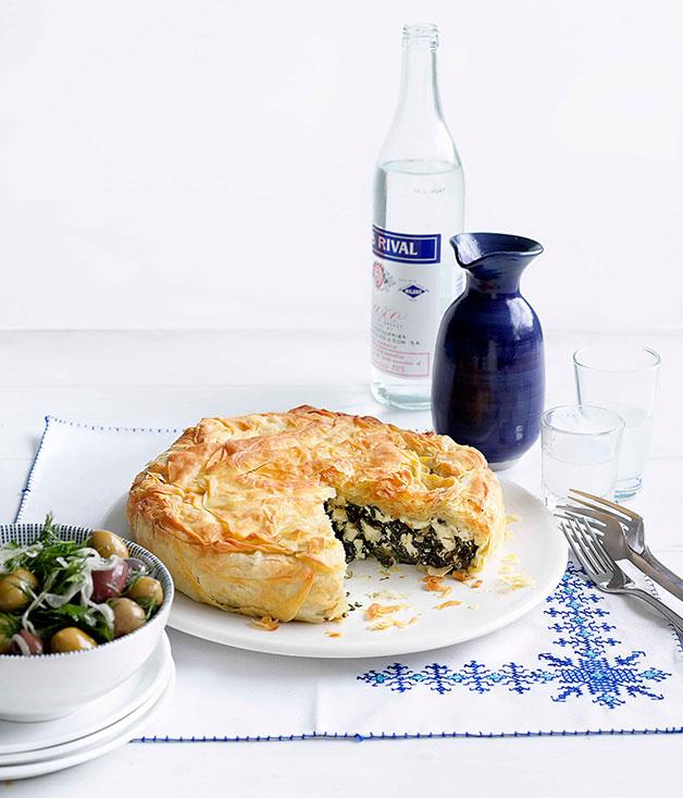 "[Spanakopita](https://www.gourmettraveller.com.au/recipes/browse-all/spanakopita-14141|target=""_blank"")"