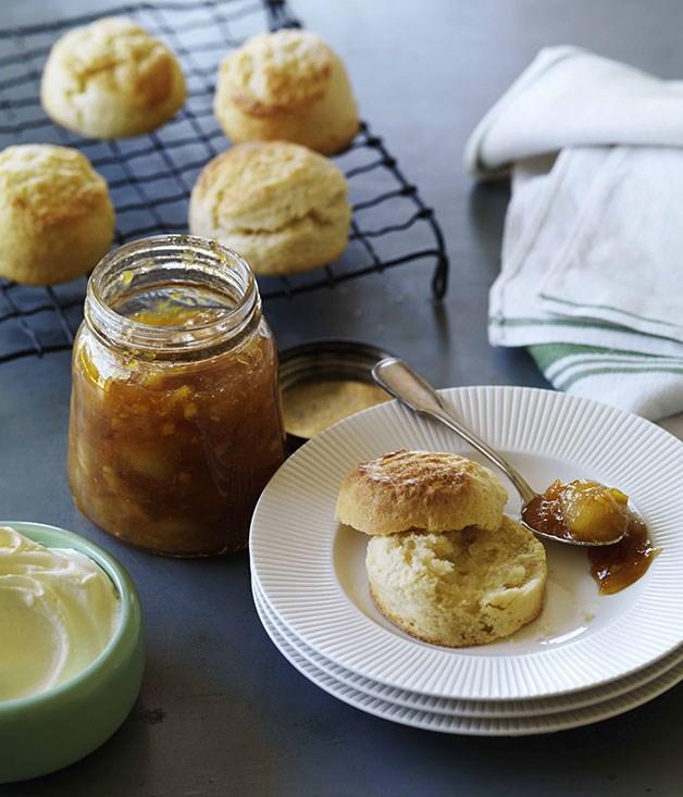 Perfect scones with jam and cream