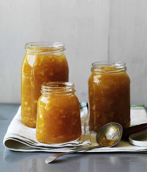 Nectarine, peach and orange blossom jam