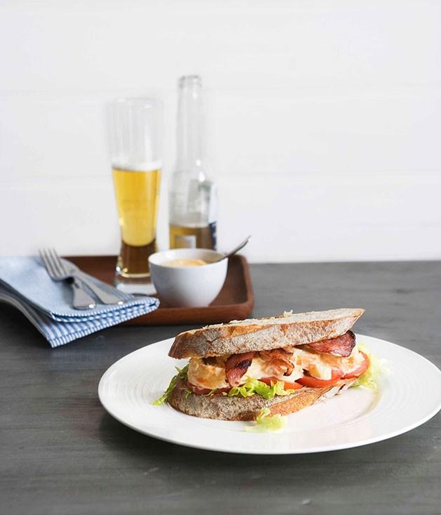 Lobster club sandwiches