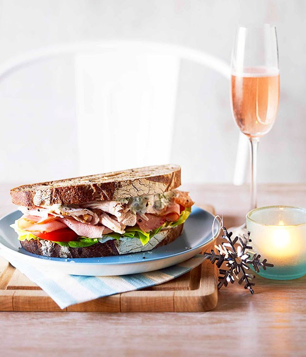 "[**Boxing Day sandwich**](https://www.gourmettraveller.com.au/recipes/browse-all/boxing-day-sandwich-14298|target=""_blank"")<br><br> Christmas turkey and ham are gifts that keep on giving. Load the leftovers into this tasty sandwich and put your feet up."