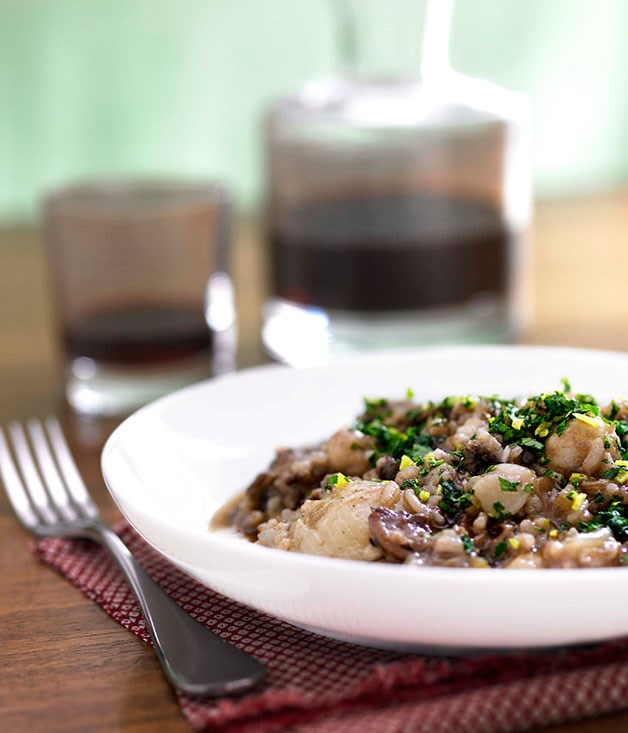 Oxtail risotto with sangiovese