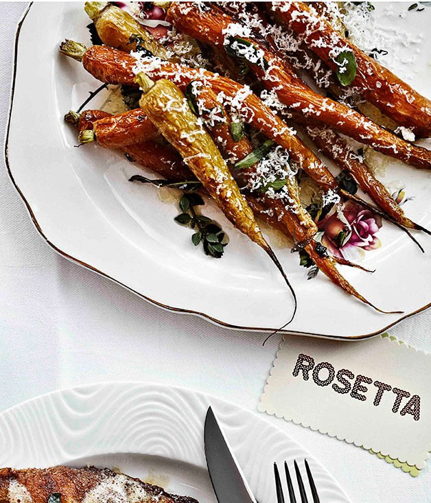 Carrots with ricotta salata