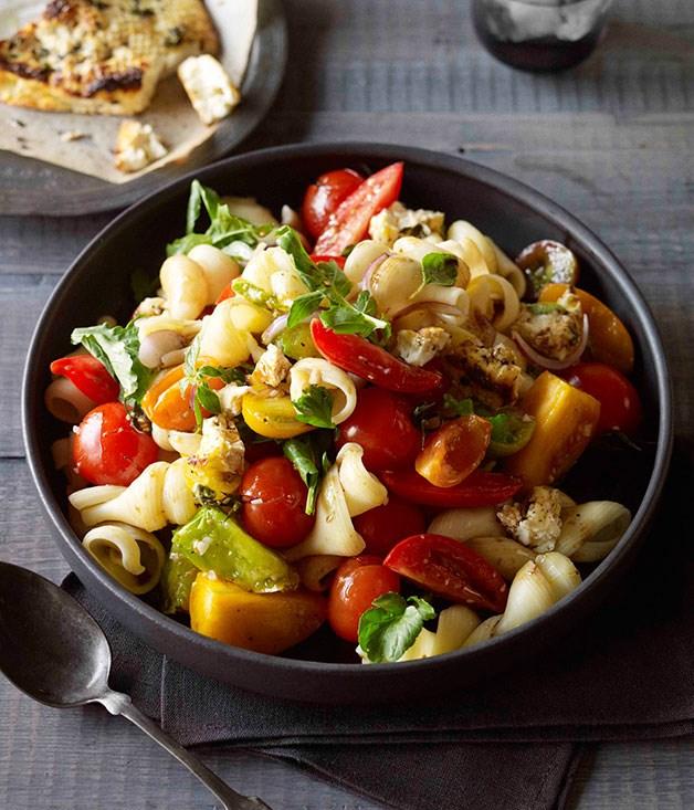 Tomato and baked ricotta pasta freddo