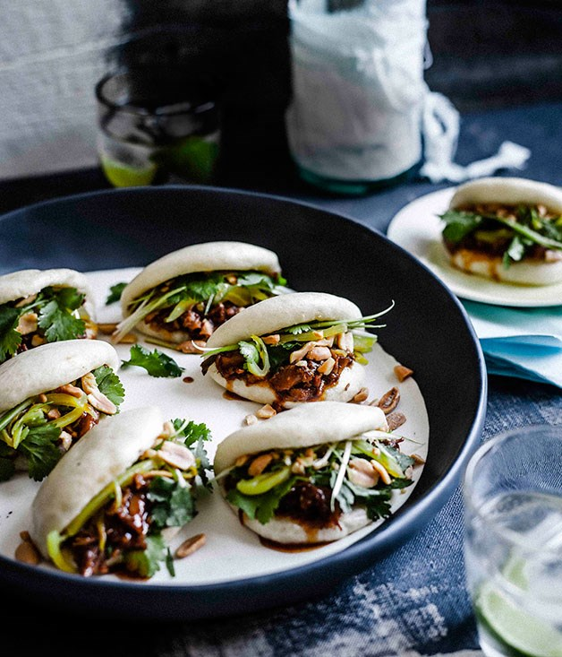 **Gua bao with braised pork ribs**