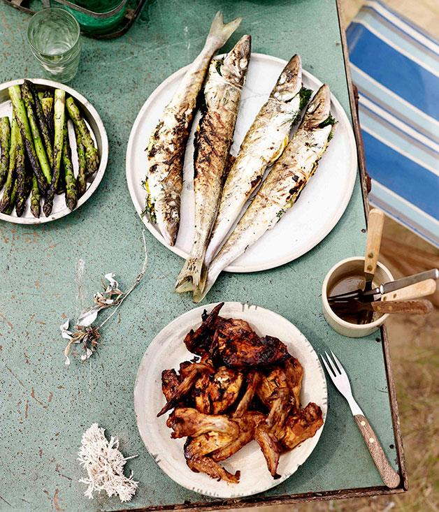 "**[Aaron Turner's grilled whiting](https://www.gourmettraveller.com.au/recipes/browse-all/grilled-whiting-11128|target=""_blank"")**"