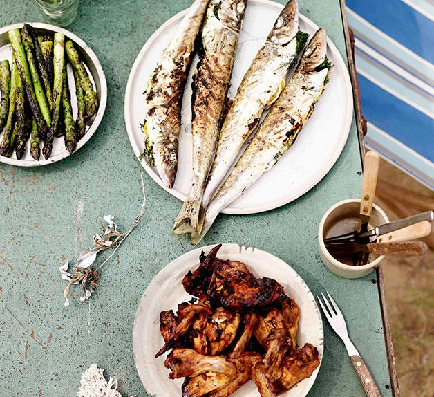 Grilled whiting