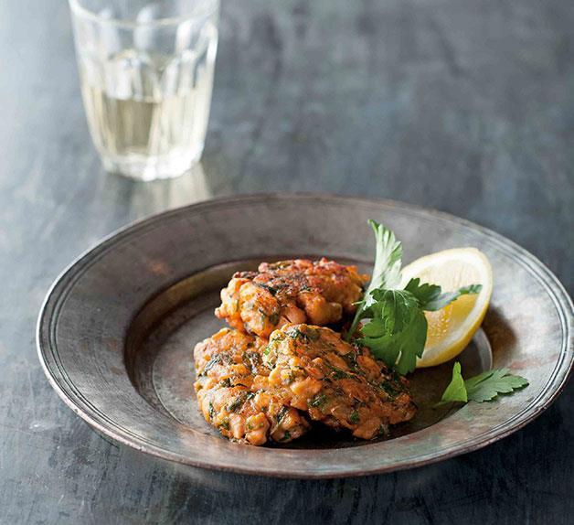 Thea Dianne's salmon keftethes