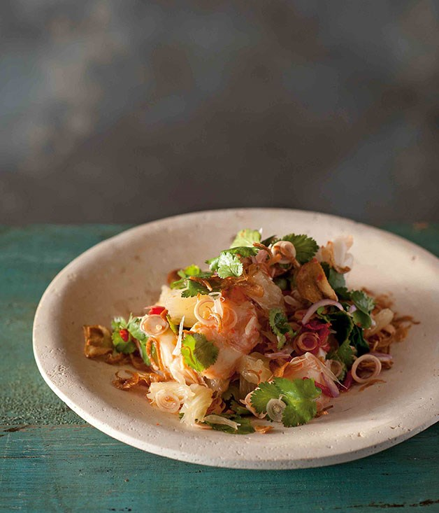 **Salad of rock lobster and pomelo**