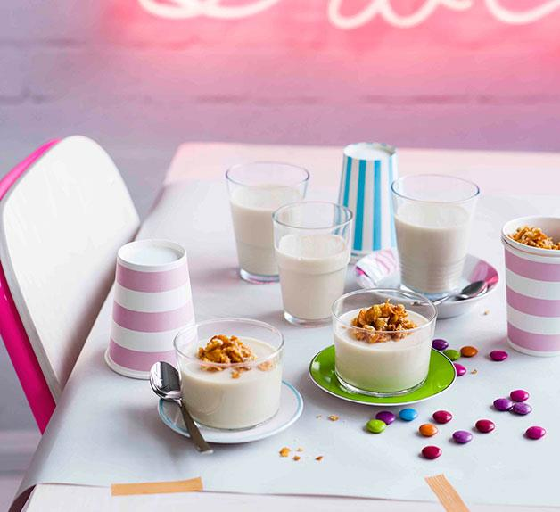 Cereal Milk panna cotta