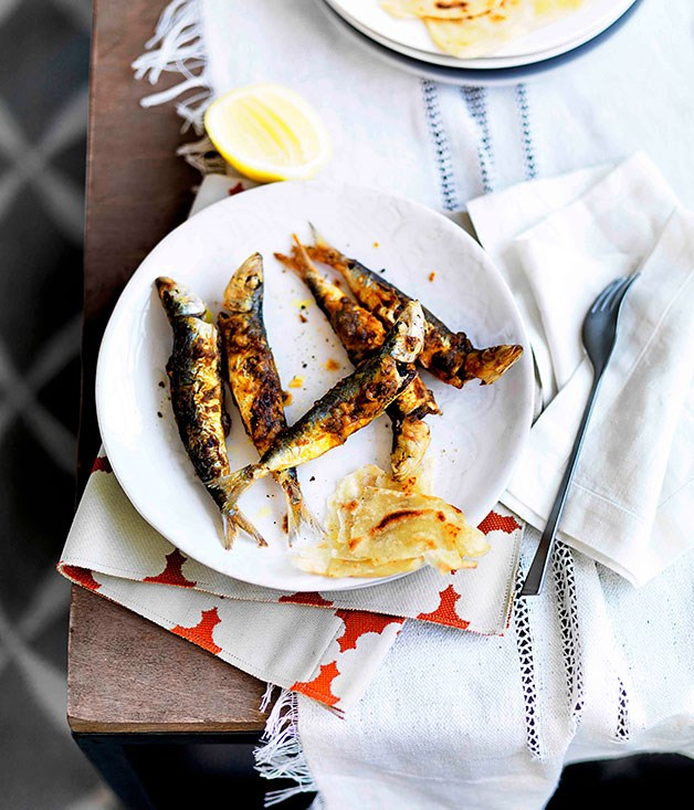 Fried sardines, Tangier-style