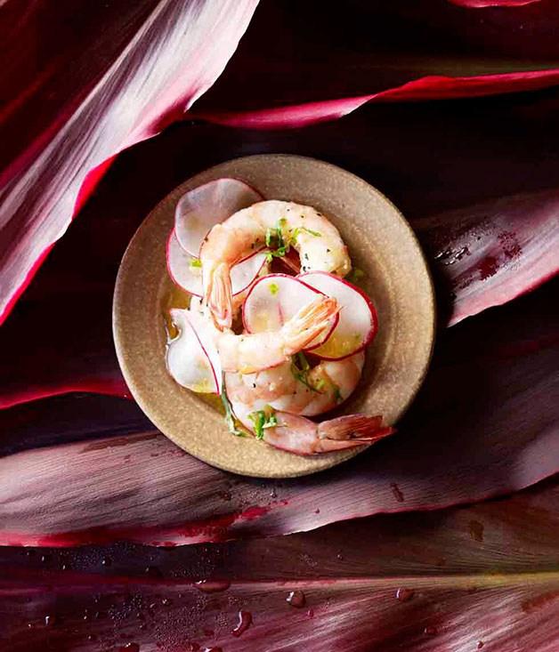 **Jasmine-scented steamed prawns** **Jasmine-scented steamed prawns**    [View Recipe](http://www.gourmettraveller.com.au/jasmine-scented-steamed-prawns.htm)