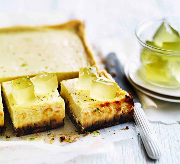 Lime and mascarpone tart with Anzac biscuit base