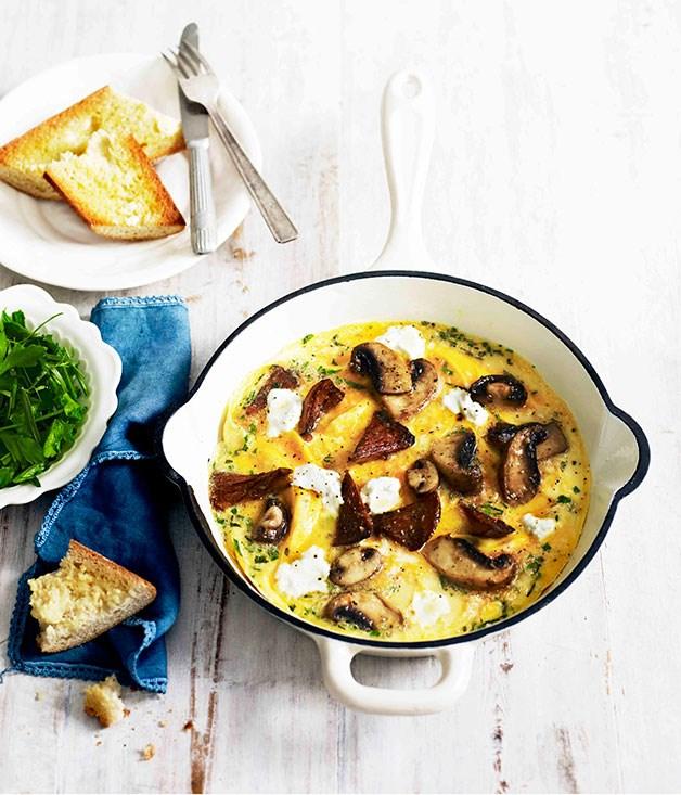 Mushroom and herb omelette