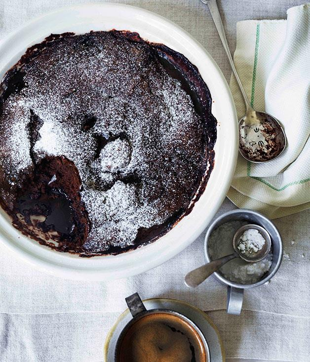 "**[Self-saucing chocolate and almond milk pudding](https://www.gourmettraveller.com.au/recipes/browse-all/self-saucing-chocolate-and-almond-milk-pudding-11323|target=""_blank"")**"