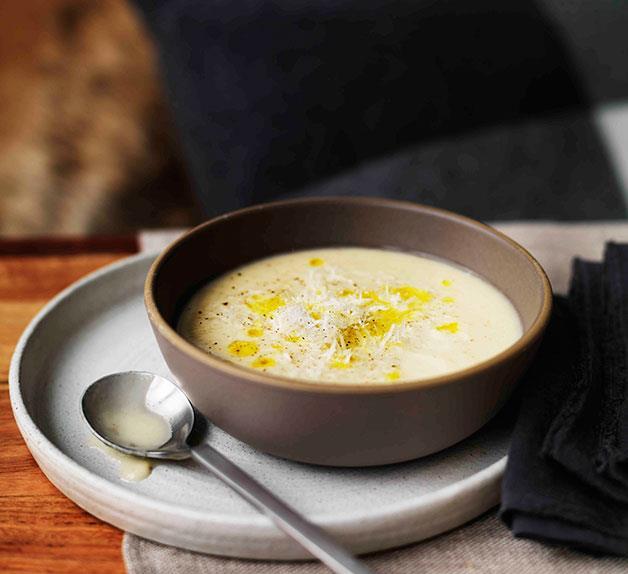 Parsnip and artichoke soup
