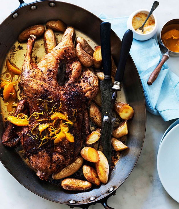 Slow-roast duck with orange