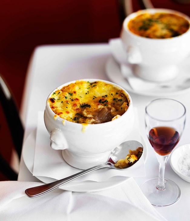 Onion soup gratinée