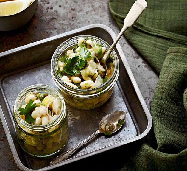 White bean salad with preserved lemon