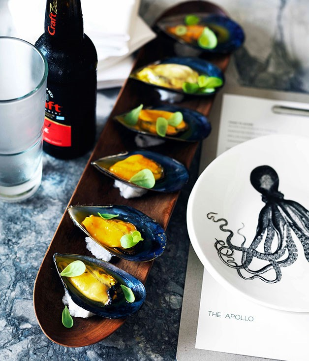 Mussels with saffron vinaigrette