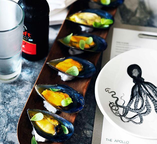 Mussels with saffron vinaigrette