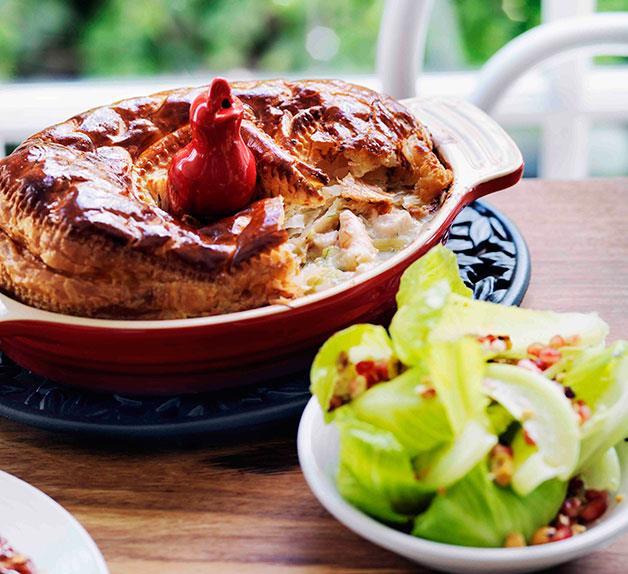Fish and prawn pie