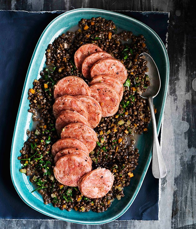 **Cotechino with lentils**
