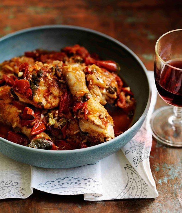 "[**Potenza-style chicken**](http://www.gourmettraveller.com.au/potenza-style-chicken.htm|target=""_blank"")"