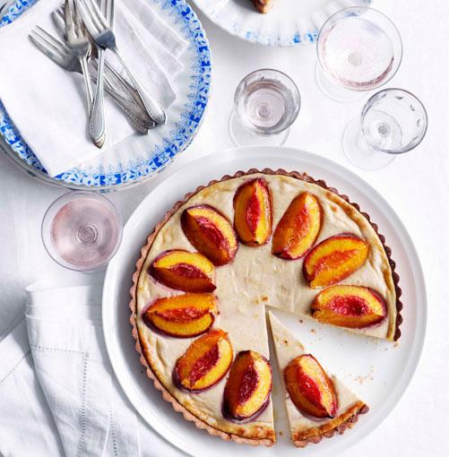 **Nectarine and spiced-ricotta tart** **Nectarine and spiced-ricotta tart**    [View Recipe](http://gourmettraveller.com.au/nectarine-and-spiced-ricotta-tartNEW.htm)     PHOTOGRAPH **BEN DEARNLEY**