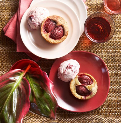 **Plum burnt-butter cakes with plum semifreddo** **Plum burnt-butter cakes with plum semifreddo**    [View Recipe](http://gourmettraveller.com.au/plum_burntbutter_cakes_with_plum_semifreddo.htm)     PHOTOGRAPH **CHRIS CHEN**