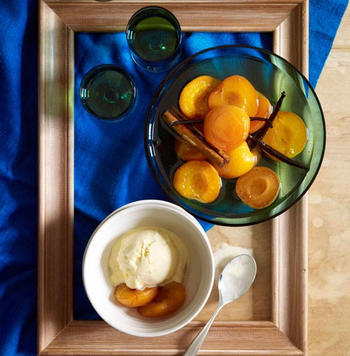 **Apricots in vanilla-brandy syrup** **Apricots in vanilla-brandy syrup**    [View Recipe](http://gourmettraveller.com.au/apricots-in-vanilla-brandy-syrup.htm)     PHOTOGRAPH **CHRIS CHEN**